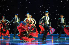 Matadora taniec ---Hiszpański Krajowy taniec Obraz Royalty Free