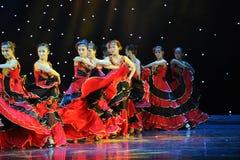 Matadora taniec ---Hiszpański Krajowy taniec Fotografia Royalty Free