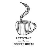 Mataffisch Annonsera med kaffe Vektor Illustrationer