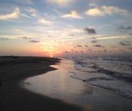 Matagorda-Insel-Strand bei Sonnenaufgang stockfotografie