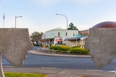 Matakana street scene from intersection of Matakana Valley Road Stock Photos