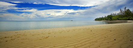 mataking沙巴的珊瑚岛 库存照片