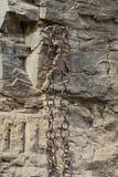 Matal chains pairs hanging Royalty Free Stock Image