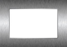 Matal silver picture frame Stock Photos