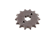 Matal steel gears  on white background Royalty Free Stock Image