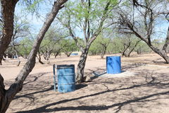 Metal trash Barrel Stock Photos
