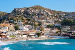 Matala。克利特,希腊 免版税库存图片