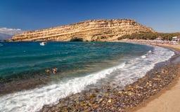 Matala海滩 库存照片