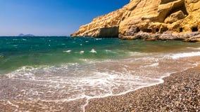 Matala海滩 图库摄影