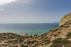 Matala, красный пляж Стоковая Фотография RF