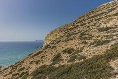 Matala, красный пляж Стоковые Фото