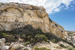 Matala, красный пляж Стоковое Фото
