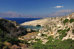 Matala. View on Matala (Greece) with famous rocks Stock Image