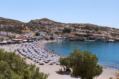 MATALA BAAI, KRETA, Griekenland. Stock Afbeelding