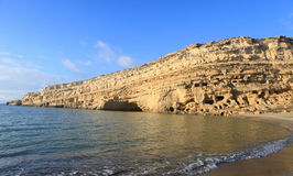 Matala beach afternoon Stock Images