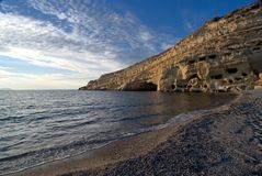 Matala beach afternoon - Crete Stock Photo