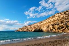 Matala beach Stock Images