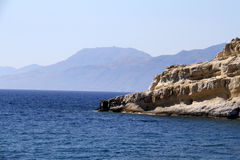 Matala beach in Crete Royalty Free Stock Images