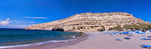 Matala beach Royalty Free Stock Photography