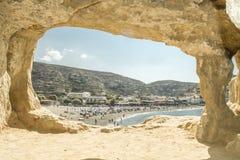 Matala beach Stock Photography