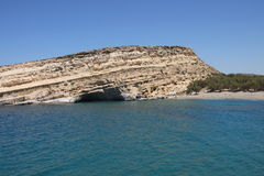 Matala caves in Crete Royalty Free Stock Images