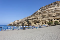 Matala, Creta Fotografia Stock Libera da Diritti