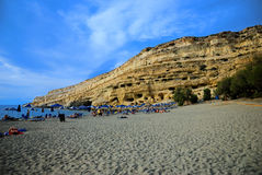 Matala, Crete Royalty Free Stock Image