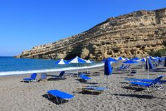 Matala, Crete Royalty Free Stock Photo