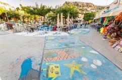 MATALA, CRETE ISLAND, GREECE - JUNE 30: Royalty Free Stock Images