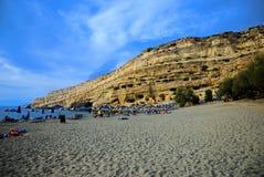 Matala, Kreta Lizenzfreies Stockbild