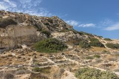 Matala, praia vermelha foto de stock