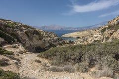 Matala, praia vermelha Fotografia de Stock Royalty Free