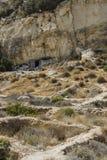 Matala röd strand royaltyfri foto