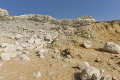 Matala röd strand arkivfoton