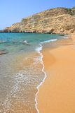 Matala Red Beach Stock Photo