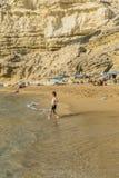Matala, Rood strand Royalty-vrije Stock Foto