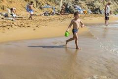 Matala, Rood strand Royalty-vrije Stock Fotografie