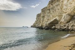 Matala, spiaggia rossa Immagine Stock