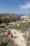 Matala, spiaggia rossa Fotografia Stock Libera da Diritti