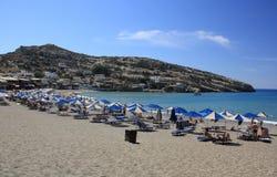 Matala Strand in Kreta, Griechenland stockfoto