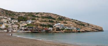 Matala village, Crete, Greece Royalty Free Stock Photography