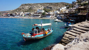 Matala village Royalty Free Stock Photos