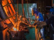 Matallurgic production, production Stock Photo