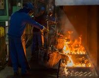 Matallurgic production, production Stock Image