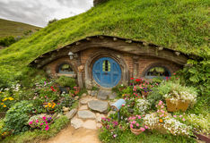 MATAMATA, NEUSEELAND - 4. FEBRUAR: HOBBITON, LORD OF THE RINGS 2016 Lizenzfreie Stockbilder