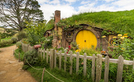 MATAMATA, NEUSEELAND - 4. FEBRUAR: HOBBITON, LORD OF THE RINGS 2016 Lizenzfreies Stockbild