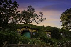 Free MATAMATA- NEW ZEALAND -APRIL -19- 2019 :The Hobbiton Movie Set Created For Filming The Lord Of The Rings And The Hobbit Movies In Stock Image - 216123671