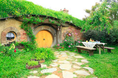 MATAMATA, NEW ZEALAND - JANUARY 15, 2015: Hobbiton - fictional v. Illage created for the movie Lord of the Rings Royalty Free Stock Images