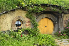 MATAMATA, NEW ZEALAND - JANUARY 15, 2015: Hobbiton - fictional v. Illage created for the movie Lord of the Rings Stock Images