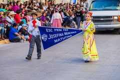 Desfile Fiestas Mexicanas. Matamoros, Tamaulipas, Mexico - March 02, 2013, Desfile Fiestas Mexicanas is part of the Charro Days Fiesta - Fiestas Mexicanas, A bi stock photo